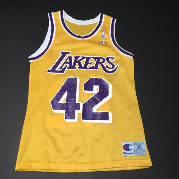 official photos 07b33 2b7d1 Vintage 80s Champion Big Game James Worthy Lakers